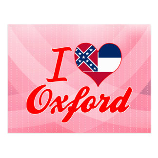 I Love Oxford, Mississippi Postcard