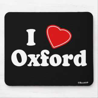 I Love Oxford Mouse Pad