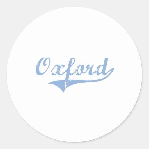 I Love Oxford North Carolina Round Stickers