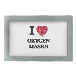 I love Oxygen Masks Belt Buckles