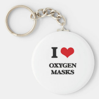 I Love Oxygen Masks Keychain