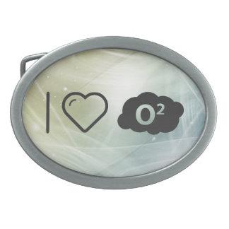 I Love Oxygens Oval Belt Buckles