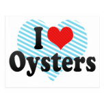 I Love Oysters Post Card