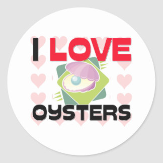 I Love Oysters Stickers