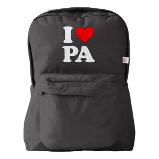 I LOVE PA AMERICAN APPAREL™ BACKPACK