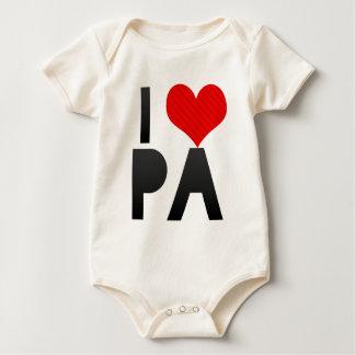 I Love PA Baby Bodysuit