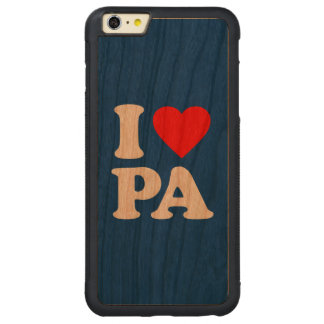 I LOVE PA CARVED® CHERRY iPhone 6 PLUS BUMPER CASE