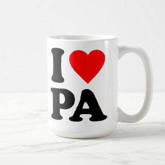 I LOVE PA COFFEE MUG