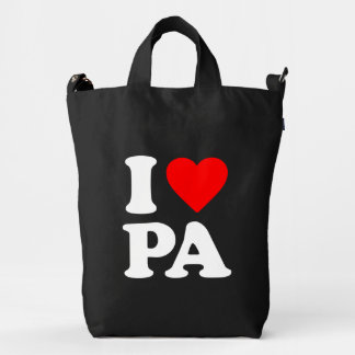 I LOVE PA DUCK BAG
