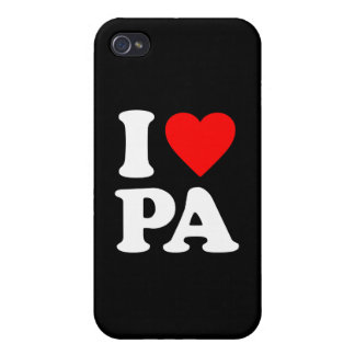 I LOVE PA COVER FOR iPhone 4