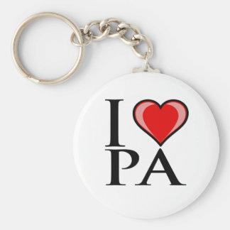I Love PA - Pennsylvania Basic Round Button Keychain