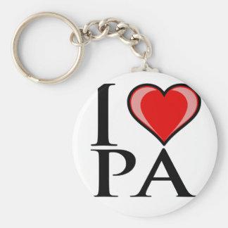 I Love PA - Pennsylvania Key Chain