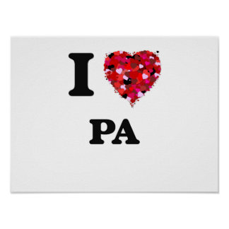 I Love Pa Poster