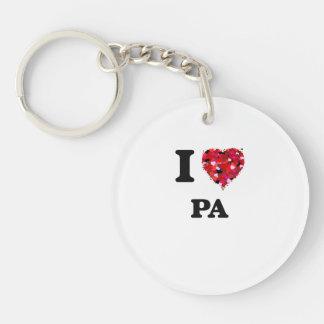I Love Pa Single-Sided Round Acrylic Keychain