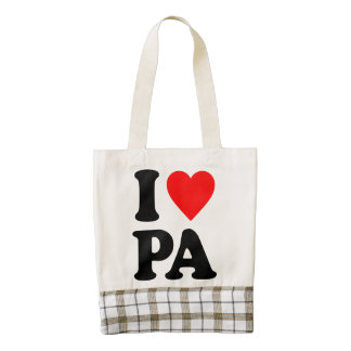 I LOVE PA ZAZZLE HEART TOTE BAG