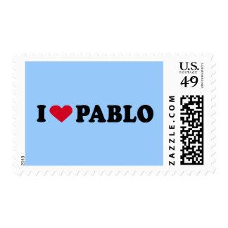 I LOVE PABLO POSTAGE STAMP