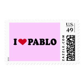 I LOVE PABLO POSTAGE STAMPS