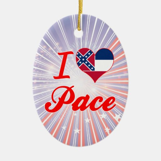 I Love Pace, Mississippi Ornament