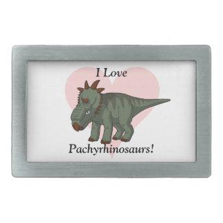 I Love Pachyrhinosaurs! Belt Buckle