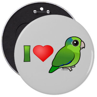 I Love Pacific Parrotlets (green) Pinback Buttons