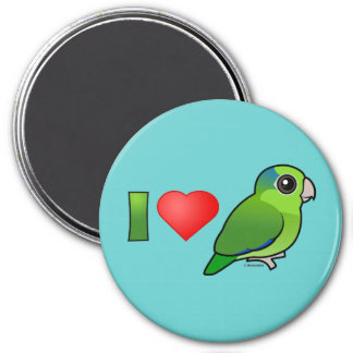 I Love Pacific Parrotlets (green) Magnets