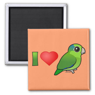 I Love Pacific Parrotlets (green) Refrigerator Magnet