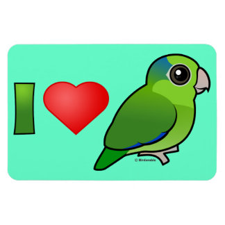 I Love Pacific Parrotlets (green) Vinyl Magnet