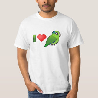 I Love Pacific Parrotlets (green) T-Shirt