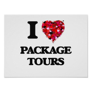 I Love Package Tours Poster
