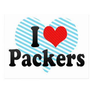 I Love Packers Postcard
