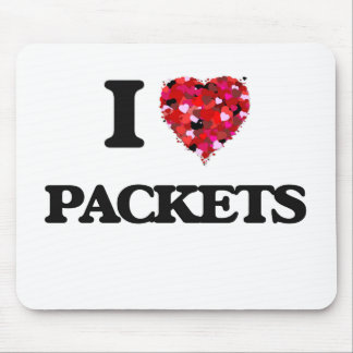 I Love Packets Mouse Pad
