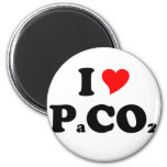 I Love PaCO2 Magnets