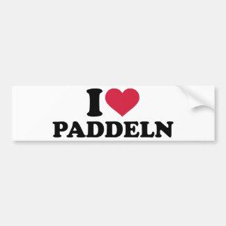 I love Paddeln Bumper Stickers