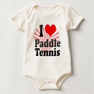 I love Paddle Tennis Baby Bodysuit