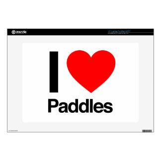 "i love paddles 15"" laptop skins"