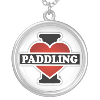 I Love Paddling Silver Plated Necklace