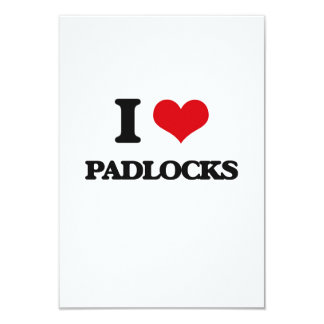 I Love Padlocks 3.5x5 Paper Invitation Card