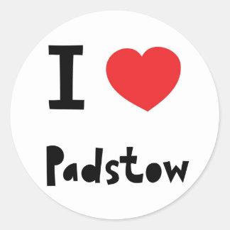 I love Padstow Classic Round Sticker