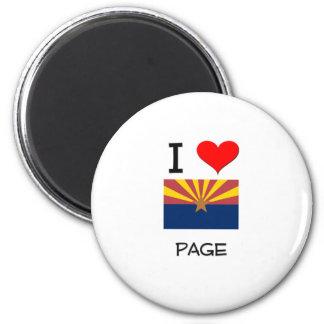 I Love PAGE Arizona Magnet