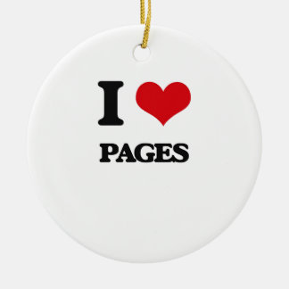 I Love Pages Christmas Ornament