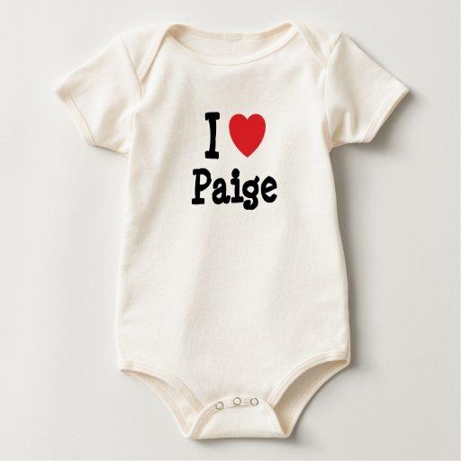 I love Paige heart T-Shirt