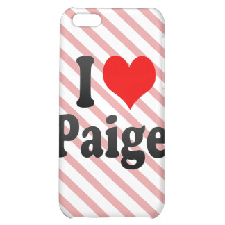 I love Paige Case For iPhone 5C