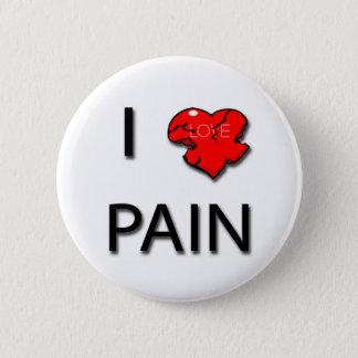 I Love Pain heart black Pinback Button