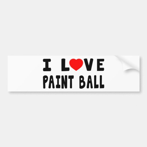 I Love Paint Ball Bumper Stickers