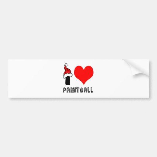 I Love Paint Ball Design Bumper Sticker