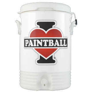 I Love Paintball Beverage Cooler