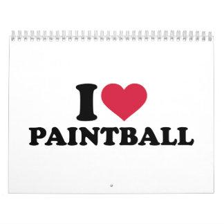 I love Paintball Calendar