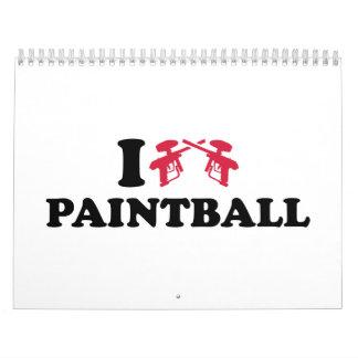 I love Paintball guns Calendar