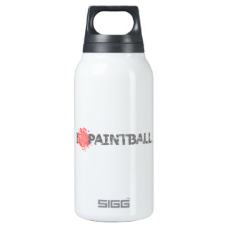 I Love Paintball Guns Insulated Water Bottle
