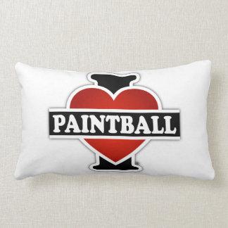 I Love Paintball Lumbar Pillow